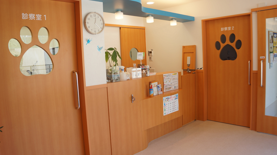 ●とも動物病院情報 ② きれいな受付や待合室